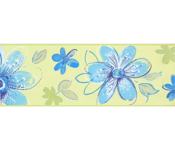 Prepasted Wallpaper Borders - Floral Wall Paper Border CK7704B
