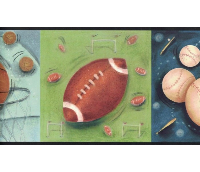 New  Arrivals Wall Borders: Sports Ball Wallpaper Border CK83052B