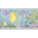 Prepasted Wallpaper Borders - Aquarium Wall Paper Border CK83141B