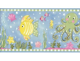 Prepasted Wallpaper Borders - Aquarium Wall Paper Border CK83141B