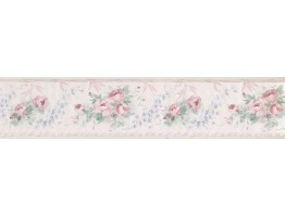 4.25 in x 15 ft Prepasted Wallpaper Borders - Floral Wall Paper Border CN73869