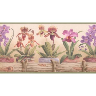 10 1/4 in x 15 ft Prepasted Wallpaper Borders - Garden Wall Paper Border CP033111B