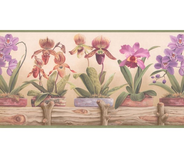Prepasted Wallpaper Borders - Garden Wall Paper Border CP033111B