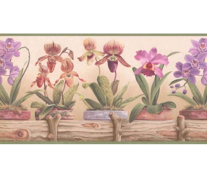 New  Arrivals Wall Borders: Garden Wallpaper Border CP033111B