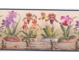 Orchid Flower Wallpaper Border CP033112B