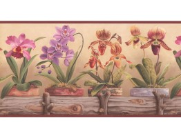 Prepasted Wallpaper Borders - Garden Wall Paper Border CP033114B