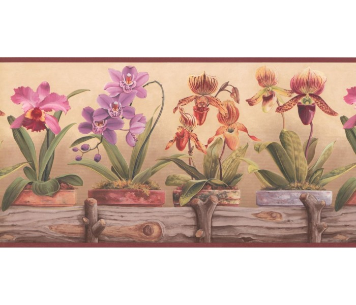 New  Arrivals Wall Borders: Garden Wallpaper Border CP033114B