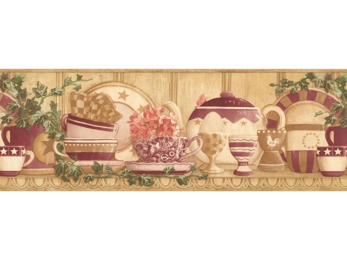 Kitchen Wallpaper Border Cp033123b