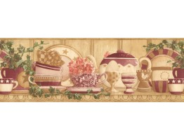 7 in x 15 ft Prepasted Wallpaper Borders - Kitchen Wall Paper Border CP033123B