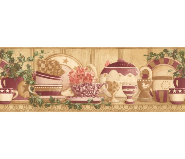 New  Arrivals Wall Borders: Kitchen Wallpaper Border CP033123B