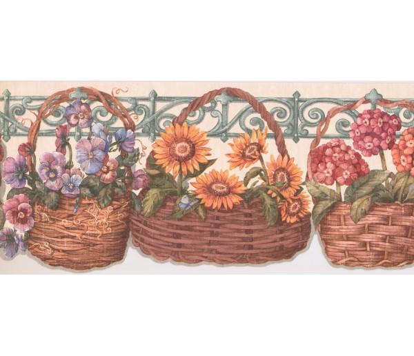 New  Arrivals Wall Borders: Floral Wallpaper Border CP033176B