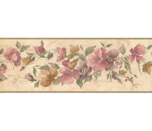 New  Arrivals Wall Borders: Floral Wallpaper Border CR72841N