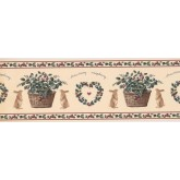 New  Arrivals Wall Borders: Rabbit and Fruits Wallpaper Border CS8421B