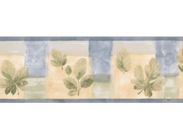 7 in x 15 ft Prepasted Wallpaper Borders - Leaves Wall Paper Border CT78177L