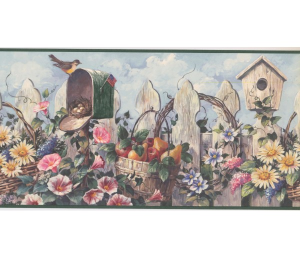 New  Arrivals Wall Borders: Garden Wallpaper Border CUP3322