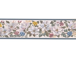 Prepasted Wallpaper Borders - Floral Wall Paper Border CUP3391
