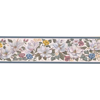 5 1/4 in x 15 ft Prepasted Wallpaper Borders - Floral Wall Paper Border CUP3391