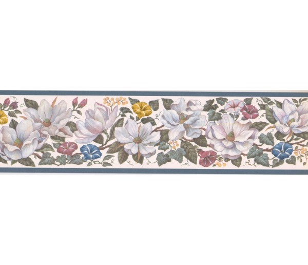 New  Arrivals Wall Borders: Floral Wallpaper Border CUP3391