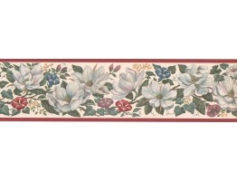 Prepasted Wallpaper Borders - Floral Wall Paper Border CUP3392