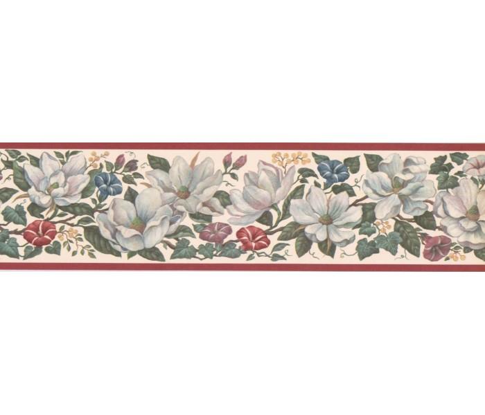 New  Arrivals Wall Borders: Floral Wallpaper Border CUP3392