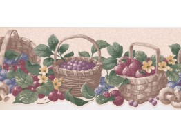 9 in x 15 ft Prepasted Wallpaper Borders - Fruits Wall Paper Border CV103730