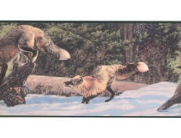 Prepasted Wallpaper Borders - Animals Wall Paper Border CW102791