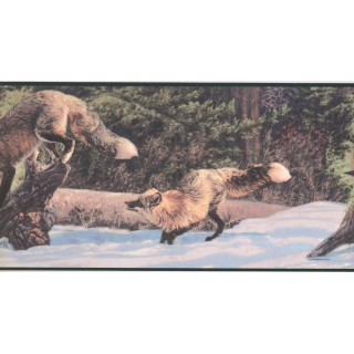 10 1/4 in x 15 ft Prepasted Wallpaper Borders - Animals Wall Paper Border CW102791