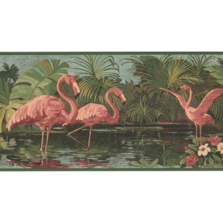 10 1/4 in x 15 ft Prepasted Wallpaper Borders - Birds Wall Paper Border DB3715B