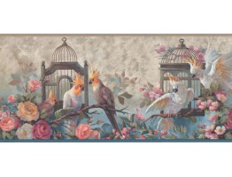 Prepasted Wallpaper Borders - Birds Wall Paper Border DB3726B