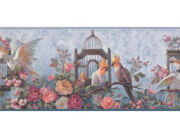 9 in x 15 ft Prepasted Wallpaper Borders - Birds Wall Paper Border DB3728B