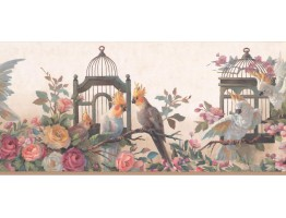 Prepasted Wallpaper Borders - Garden Wall Paper Border DB3729B