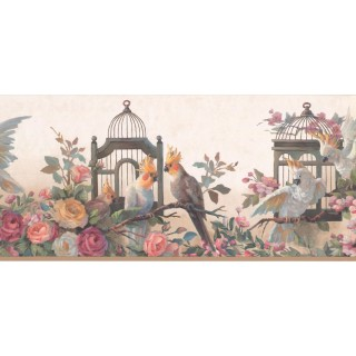 9 in x 15 ft Prepasted Wallpaper Borders - Garden Wall Paper Border DB3729B