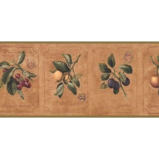 9 1/4 in x 15 ft Prepasted Wallpaper Borders - Kitchen Wall Paper Border DB3780B