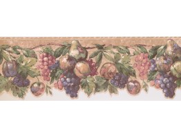 7 in x 15 ft Prepasted Wallpaper Borders - Fruits Wall Paper Border DES19504