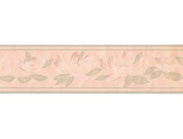 Prepasted Wallpaper Borders - Floral Wall Paper Border DES99034
