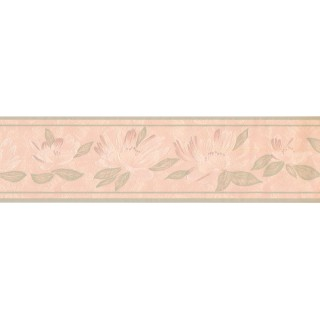 5 in x 15 ft Prepasted Wallpaper Borders - Floral Wall Paper Border DES99034