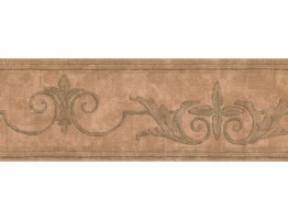 Prepasted Wallpaper Borders - Vintage Wall Paper Border DK1256