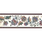 New  Arrivals Wall Borders: Floral Wallpaper Border DK2133B
