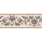 New  Arrivals Wall Borders: Floral Wallpaper Border DS9440B