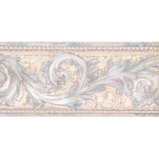 9 in x 15 ft Prepasted Wallpaper Borders - Contemporary Wall Paper Border DW5146B