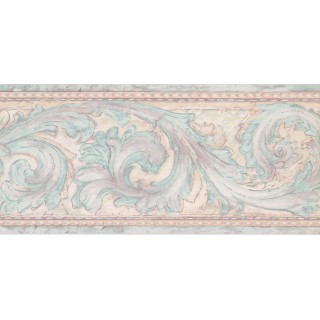 9 in x 15 ft Prepasted Wallpaper Borders - Contemporary Wall Paper Border DW5151B