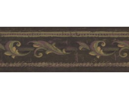 Prepasted Wallpaper Borders - Leaves Wall Paper Border ED1781B