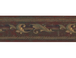 Prepasted Wallpaper Borders - Leaves Wall Paper Border ED1782B