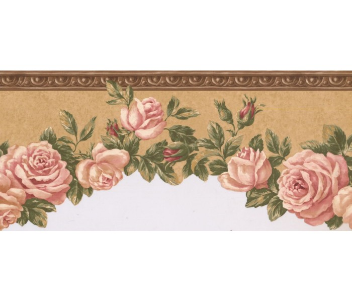 New  Arrivals Wall Borders: Floral Wallpaper Border EG022102B