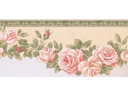 9 in x 15 ft Prepasted Wallpaper Borders - Floral Wall Paper Border EG022103B