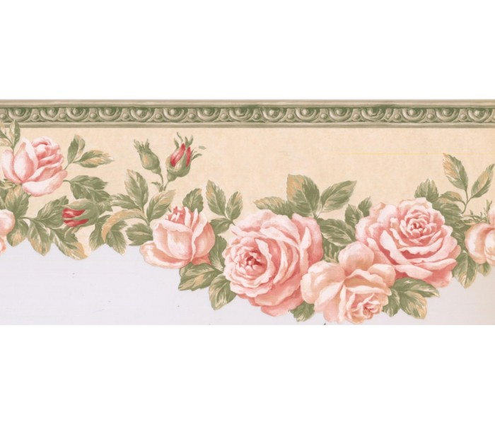 New  Arrivals Wall Borders: Floral Wallpaper Border EG022103B
