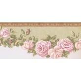 New  Arrivals Wall Borders: Floral Wallpaper Border EG022104B