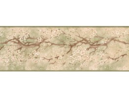 Prepasted Wallpaper Borders - Floral Wall Paper Border EG022113B