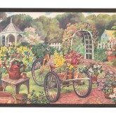 New  Arrivals Wall Borders: Garden Wallpaper Border EG022121B