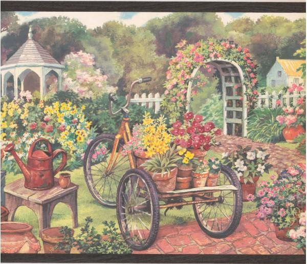 New  Arrivals Wall Borders: Garden Wallpaper Border EG022121B